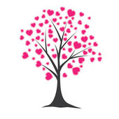Tree with hearts. Vector illustration — Stock Vector