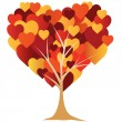Valentine's, heart, tree. vector illustration — Stok Vektör