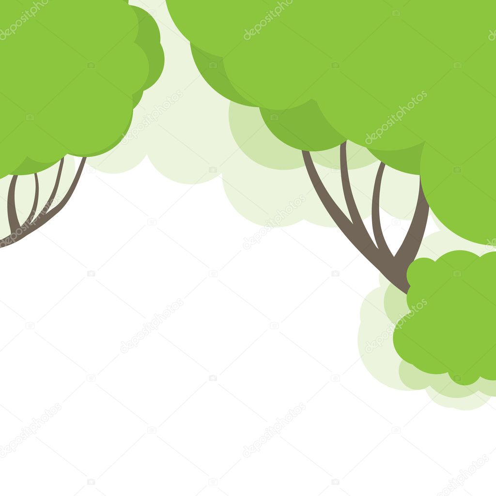 Abstract background with tree green. Vector illustration — Stock Vector #4977720