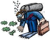 Pieniądze pod — Zdjęcie stockowe