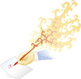 Fire pen — Stock Photo