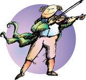 Violinist — Stock Vector