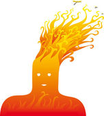 Fire head — Stock Vector