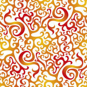 Seamless Fire Pattern — Vettoriale Stock