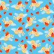 Seamless Angel Pattern — Stockvectorbeeld