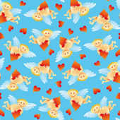 Seamless Angel Pattern — ストックベクタ