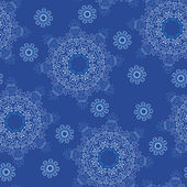 Seamless snowflake pattern — Vector de stock