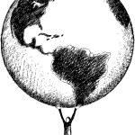 World in my hands — Stock Vector #4395374