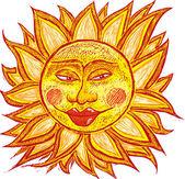 Tlustý staré slunce — Stock vektor