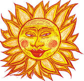 şişman yaşlı güneş — Stok Vektör
