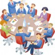 Stock Vector: Meeting room