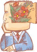 Primavera en mi mente — Vector de stock