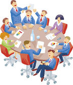 Meeting room — Stock Vector