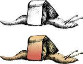 Snail book — Stock Vector