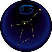 Zodiac Cancer Sign — Stock Vector
