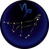 Segno del capricorno zodiacale — Vettoriale Stock