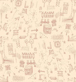 Nahtlose skizzen muster — Stockvektor