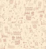 シームレスな落書きのパターン — ストックベクタ
