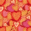 Seamless hearts pattern — Vector de stock #4488793