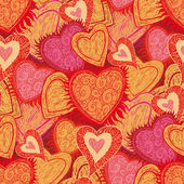 Seamless hearts pattern — ストックベクタ