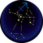 Signo del zodiaco sagitario — Vector de stock