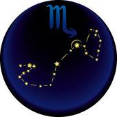 Znak zodiaku skorpion — Wektor stockowy