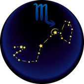 Zodiac Scorpio Sign — Stock Vector