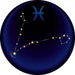 segno zodiacale dei pesci — Vettoriale Stock