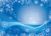 Snowflake abstract background — Stock Vector