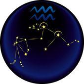 Zodiac Aquarius Sign — Stock Vector
