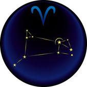 Segno ariete zodiaco — Vettoriale Stock