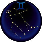 Znak zodiaku bliźnięta — Wektor stockowy