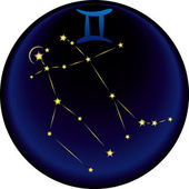 Zodiac Gemini Sign — Stock Vector