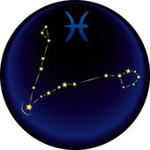 Zodiac Pisces Sign — Stockvektor