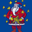 Santa Claus within stars — Image vectorielle