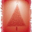 Folk Christmas Tree — Vector de stock #4541247