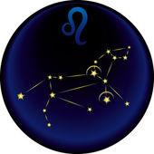 Zodiaco leo firmare — Vettoriale Stock
