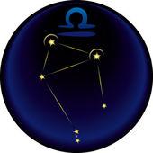 Signo del zodiaco libra — Vector de stock