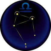 Zodiac Libra Sign — Vettoriale Stock
