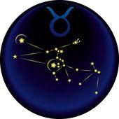 Taurus znamení zvěrokruhu — Stock vektor