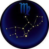 Segno vergine zodiaco — Vettoriale Stock