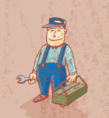 Good plumber — Vector de stock