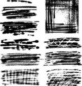 Grunge 帧设置二 — 图库矢量图片