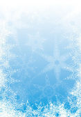 Fond de flocons de neige — Vecteur