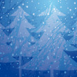 Christmas Trees splatter background — Imagen vectorial