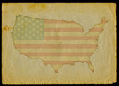 USA map on old paper — Foto de Stock