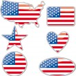 USA placards — Stock Vector