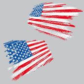 Bandera usa grunge — Vector de stock