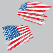 Grunge usa vlajka — Stock vektor