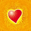Flames heart — Vector de stock #4622515